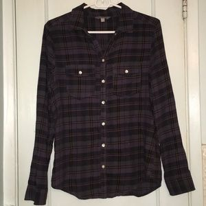 Rubbish Button Up Plaid Shirt